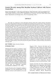 Genetic Diversity among Elite Brazilian Soybean Cultivars ... - SBMP