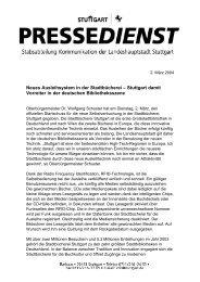 Selbstverbuchung - Stadtbibliothek Stuttgart