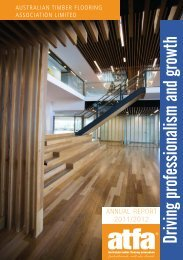 2012 Annual Report - The Australian Timber Flooring Association