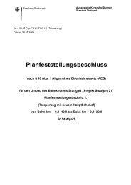 Vorlage für Planfeststellungsbeschluss - Bahnprojekt-Stuttgart-Ulm