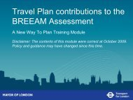 Travel Plan contributions to the BREEAM Assessment