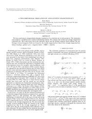 A Two-dimensional Simulation of Relativistic Magnetized Jet