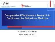 Comparative Effectiveness Research - Society of Behavioral Medicine