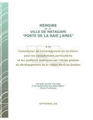 Mémoire présenté à la Commission de l ... - Ville de Matagami