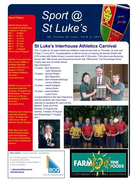 Issue 9 - St Luke's Anglican School
