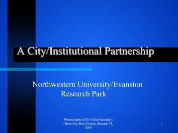 Ron Kysiak Presentation - Pacific Northwest National Laboratory