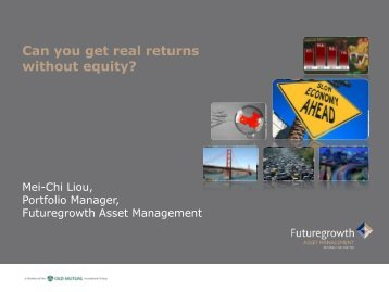 Can you get real returns without equity? - Old Mutual