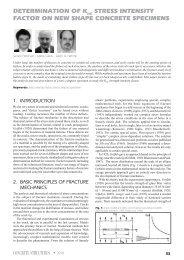 determination of k stress intensity factor on new shape concrete ...