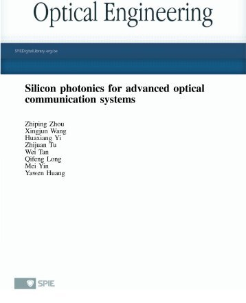 recent advances in photonics The title of this book, advances in optical and photonic devices, encompasses a broad range of theory and applications which are of interest for diverse classes of optical and photonic devices unquestionably, recent successful achievements in modern optical communications and multifunctional systems have been accomplished based on composing.