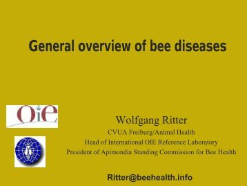 General overview of bee diseases in the world ... - OIE Africa