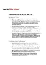 Argumentarium Finanzbedarf 2011-2014 - SRG SSR