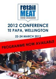 2012 ConferenCe - Retail Meat New Zealand