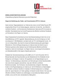 Gegen die Schließung des Radio - Fachbereich Medien, Kunst und ...