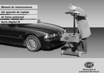 Manual de instrucciones del aparato de reglaje de faros universal ...