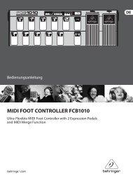 MIDI FOOT CONTROLLER FCB1010 - Behringer