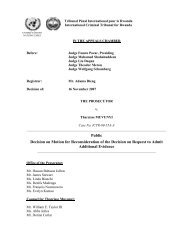 Decision on Motion for Reconsideration of the Decision on Request ...