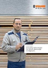 Innovative Technologien für scharfe Werkzeuge im ... - Vollmer