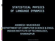 Animesh Mukherjee - Department of Computer Science and ...