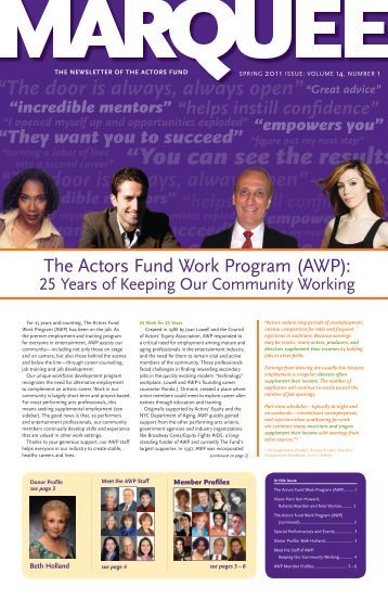 Spring 2011 - The Actors Fund