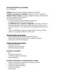 PHYSIOPATHOLOGIE DE L'ESCARRE Dr F.RIMAREIX Définition ...