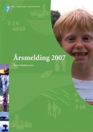 Årsmelding tannhelsetenesta 2007 - Sogn og Fjordane ...
