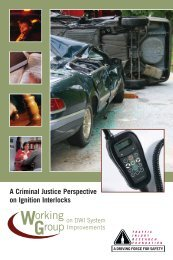 A Criminal Justice Perspective on Ignition Interlocks - Traffic Injury ...