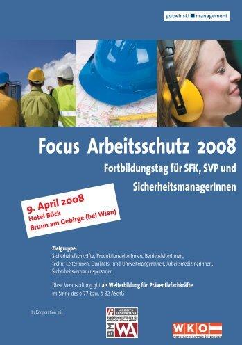 Focus Arbeitsschutz 2008