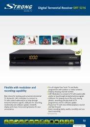 Digital Terrestrial Receiver SRT 5216 - TDT Profesional