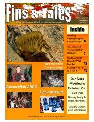October 2007 - Kitchener Waterloo Aquarium Society