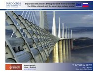 Important structures designed with the Eurocodes