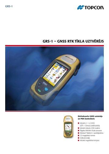 GRS-1 – GNSS RTK TīKlA uzTvēRējS - Topcon Positioning