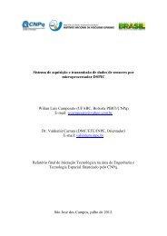 Sistema de aquisição e transmissão de dados ... - mtc-m19:80 - Inpe