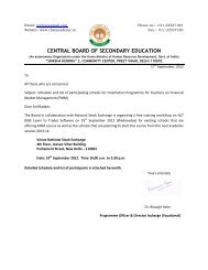 Schedule and list of participating schools for Orientation ... - CBSE
