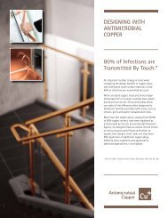 80% of Infections are Transmitted By Touch.* DESIGNING WITH ...
