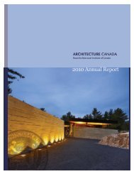 2010 Annual Report - Royal Architectural Institute of Canada