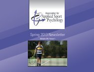 Download a PDF of this issue. - Association for Applied Sport ...