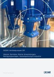 DESMI Vertikalpumpen DP Wasser, Sprinkler, Marine ...