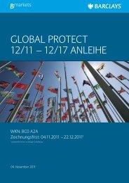 GLOBAL PROTECT 12/11 – 12/17 ANLEIHE