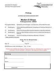 SS 2011 - Universität Passau
