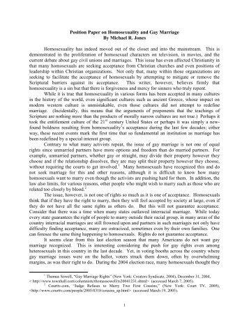 same sex marriage essays pdf