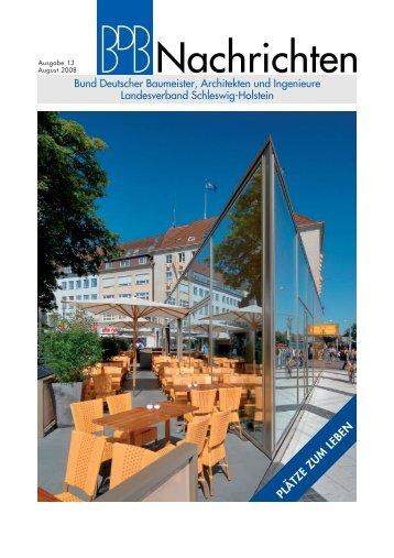 Nachrichten - Bund deutsche Baumeister Landesverband Schleswig ...