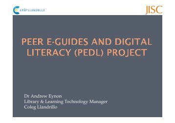 Dr Andrew Eynon Library & Learning Technology Manager ... - Niace