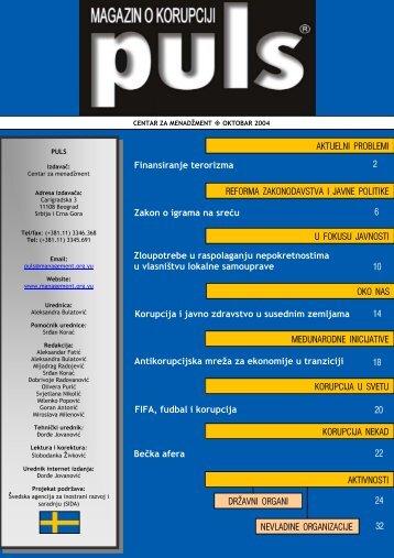 Antikorupcijska mreža za ekonomije u tranziciji AKTUELNI ...