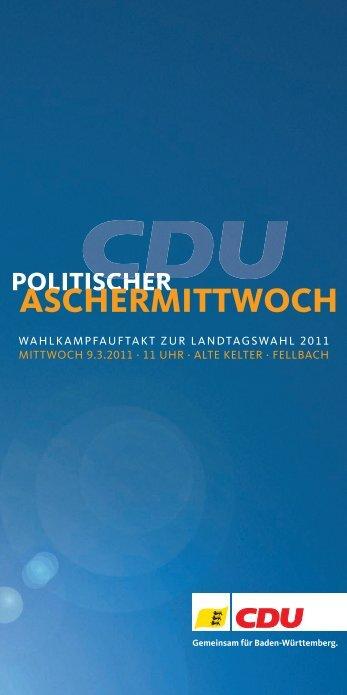 aSCHerMIttWoCH - CDU Baden-Württemberg