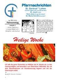 Pfarrnachrichten vom 24. März 2013 - Katholische Kirchengemeinde ...