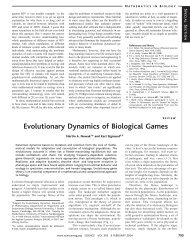 Evolutionary Dynamics of Biological Games