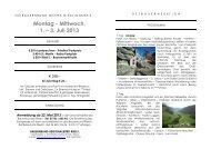 Montag - Mittwoch, 1. – 3. Juli 2013