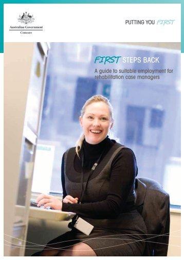 Suitable employment - A guide for Rehabilitation case ... - Comcare