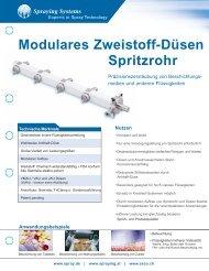 Modulares Zweistoff-Düsen Spritzrohr - Spraying Systems Co.
