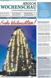 Ausgabe Nr. 5/2011 vom 23.12.2011 - Bergische Wochenschau